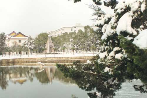 资料图片:华中科技大学校园一角(冬季景色)