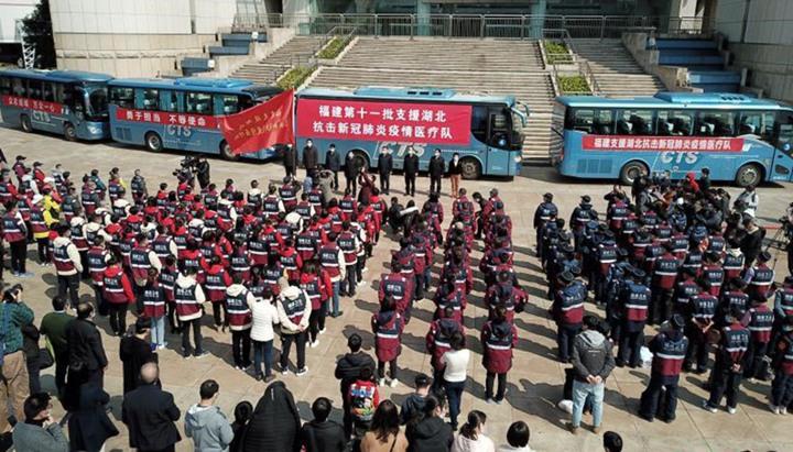 福建再出征武汉178人 目的地:重症病区