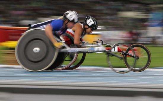 图文-田径世锦赛残疾人轮椅比赛