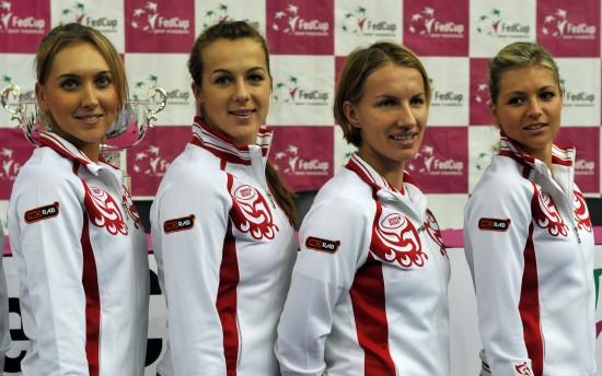 图文 联合会杯网球赛决赛 俄罗斯队参加抽签