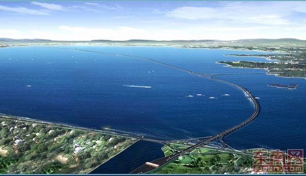 世界最长的跨海大桥——青岛海湾大桥