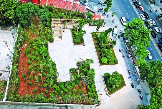 三角形绿地景观设计图片