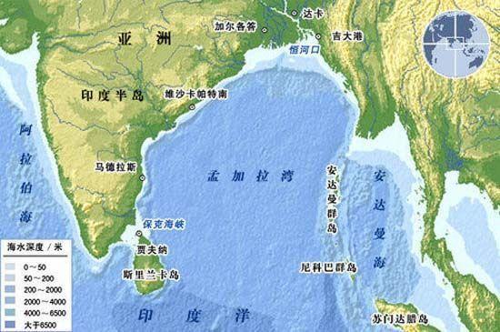 资料图:演习区域安达曼群岛地图