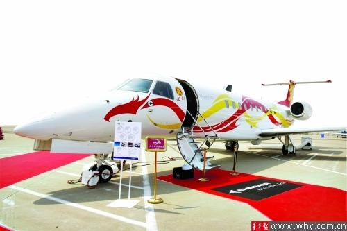 赵本山成龙私人飞机同时亮相(图)