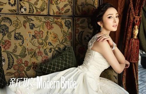 杨幂欧式复古婚纱写真
