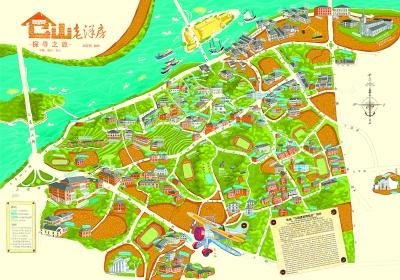 《三坊七巷手绘地图》,涵盖了每一条坊巷,每一栋故居,每一处景观.