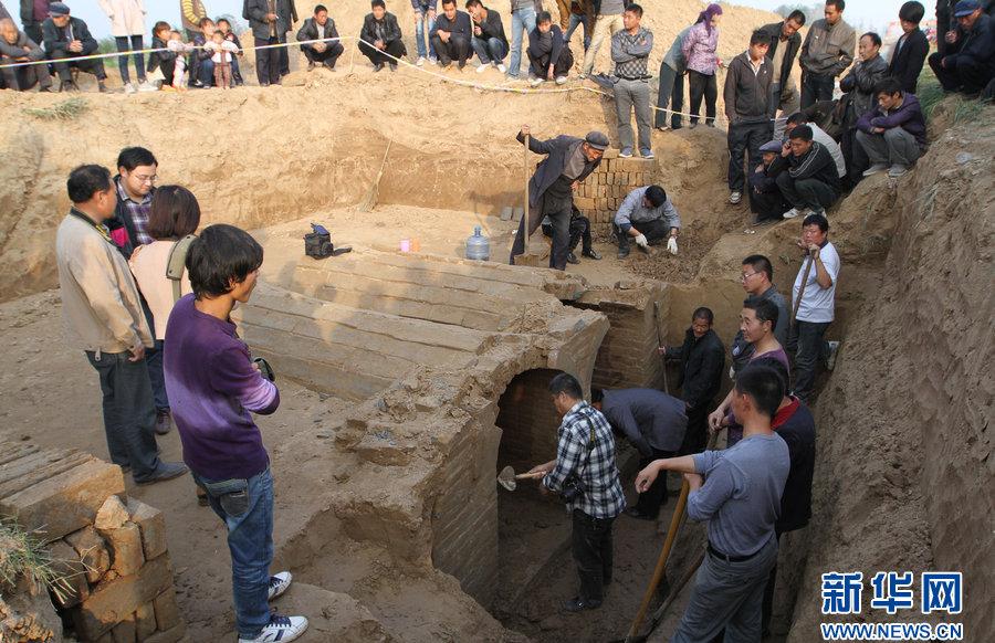清朝民间青砖墓结构图