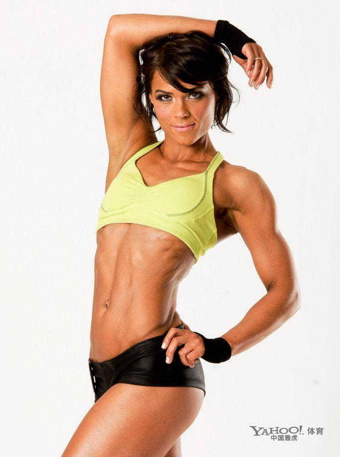 美女也爱秀肌肉