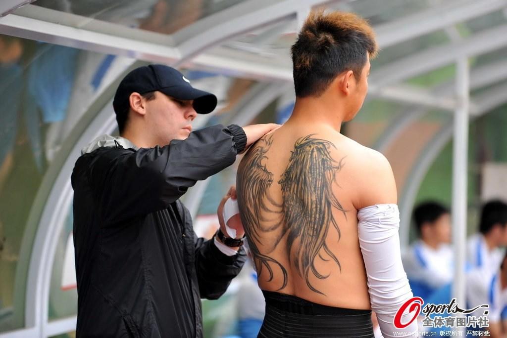 中超球员的霸气纹身