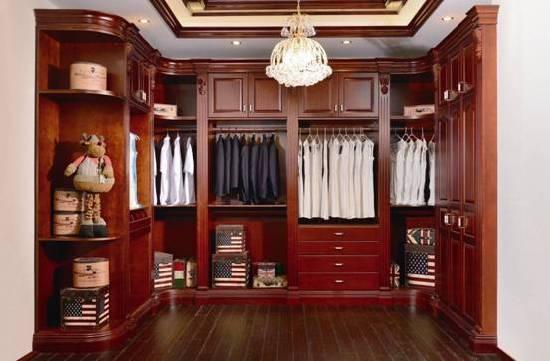 实木定制衣柜样板