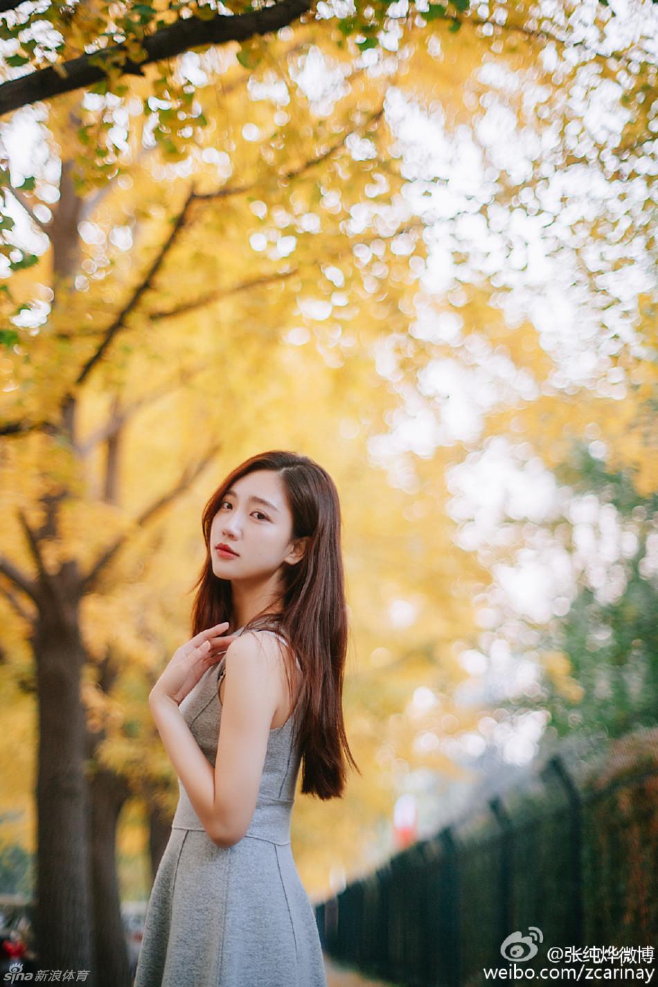 江苏卫视美女主持人张纯烨偏爱北京男篮