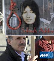 绞刑 伊朗/德国人权组织称伊朗因被控通奸罪判处石刑的妇女将于11月3日因...